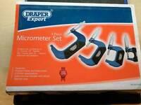 Draper Expert 4 Piece Micrometer Set