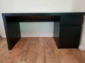 IKEA Malm Desk black