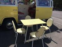 Vintage 1950s 1960s Kitchen dinning Table and Chairs
