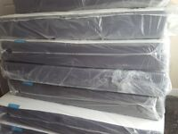 BRAND NEW EX DISPLAY double mattress ALL SIZES MASSIVE SALE NOW ON TOP NAME BRAND FURNITURE
