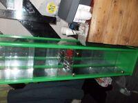 GLASS TALL DISPLAY UNITS X 2