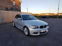 BMW 1 Series Coupe 120d M Sport Silver 177Bhp