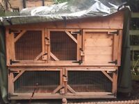 Rabbit Hutch - 2 Tier - Size 5ft long x 4ft high x 18
