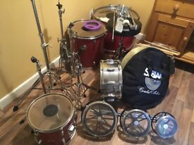 Set of Hohner Perkussion Drums and Set of Sabían Cymbals