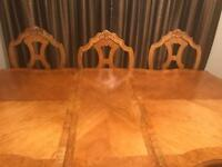 Dining Table & 6 chairs -SOLD