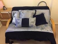 Futon style sofa bed