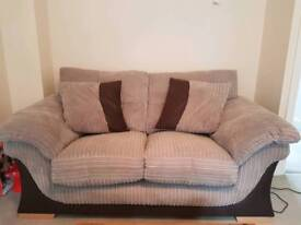 Saxon Sofa set - 2-seater couch and footstool