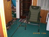 Fox Warrior XL Fishing Chair & Feeder Arm