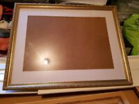 Gold Leaf Picture Frames with mounts