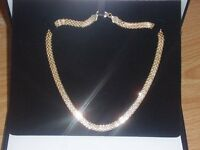 9CT YELLOW GOLD BISMARK LINK NECKLACE