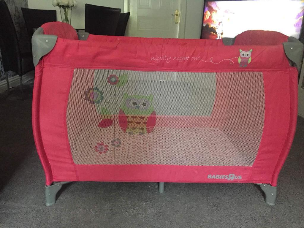 Pink babies r us travel cot- smoke and pet free home