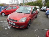 FORD FIESTA 1242cc STYLE CLIMATE 3 DOOR HATCH 2007-07, RED, LOOK ONLY 79k