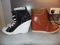 Two pairs of boots, womens, Atmosphere, size 41.