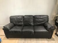 Brown Leather Sofa 2+3 seater