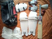V good condition cricket gear