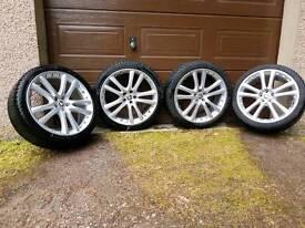Jaguar xfs senta R20 rim with winter tyres