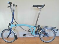Custom Built Brompton M6R Folding Bike With Accessories