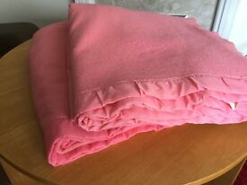 "Blankets X 2 Pink Witney Blankets, 7ft x 7ft6"" approx. £15 - collect Narborough, Leicestershire."