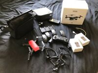DJI SPARK FLYMORE COMBO CAMERA DRONE, 4 BATTS, EXTENDED RANGE, EXCELLENT CONDITION 6 MONTH WARRANTY