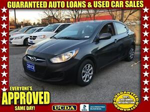 2012 Hyundai Accent GLS 4-Door | AUTOMATIC | FINANCING AVAILABLE