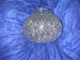Vintage glass ceiling light, 17cm diameter