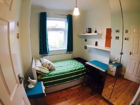 Single bedroom in modernised house