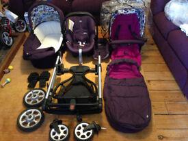 Mamas & Papas Sola Travel System – Plum