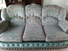 FREE TO COLLECT 3 Piece Suite (3 seat sofa & 2 armchairs) Excellent condition
