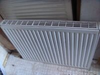 Central heating double plate radiator 80cm x 70cm (by 10cm deep) including the thermostatic valve