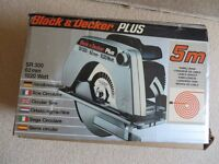 Black and Decker Plus SR300 62mm 1020 Watt Circular Saw. BRAND NEW IN BOX