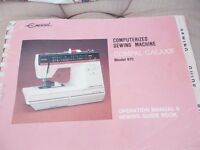 operating manual and guide book for Empisal Compal Galaxie sewing machine AND overlock side cutter