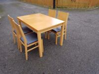 Oak Veneer Table & 4 Chairs FREE DELIVERY 495