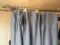 X2 light gray curtains