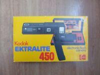 Kodak EKTRALITE 450 Cartridge Camera. Complete. Boxed & Mint. Circa 1980.