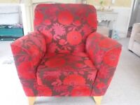 Contempory floral style arm chair