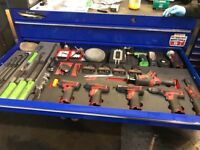 Snap on tools and tool box