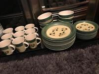 Green olive print dinner set 36 piece