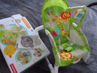 Fisher Price Used New born toddler rocker 3 position seat, grate condition.