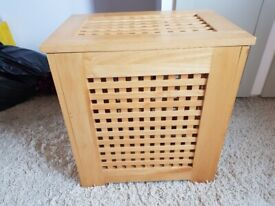 LARGE Bamboo Wooden Laundry Bin TOY STORAGE 67 litres