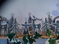 Wooden Christmas ornaments, deer, angel or tree