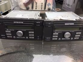 2 X FORD TRANSIT VAN STEREOS FROM 2008 MODEL