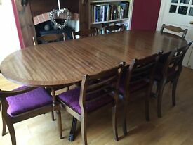 Reproduction Regency Dining Table & Chairs and sideboard