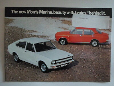 MORRIS MARINA RANGE orig 1971 1972 UK Mkt Sales Brochure - BL 2824/C