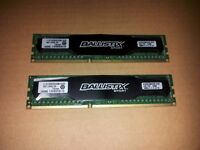 Crucial Ballistix Sport 8GB Kit (4GB x 2) DDR3 PC3-12800 1600 MT/s, Memory RAM 240pin