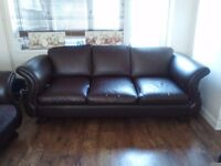 Huge leather 3 seater