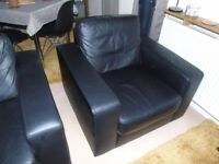 Ikea bonded leather armchairs