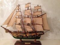 Handcrafted Antique Model Ship (HMS Victory)