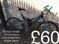 gents Mountain Bikes £40 - £120 mountain bike cycle commuter student mtb full working order