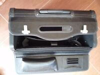 Black briefcase.