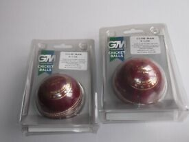 CRICKET BALL ,GUNN AND MOORE, clubman 5 1/2 oz unused in packaging